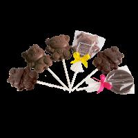 Sucette en chocolat noir