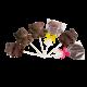 Sucettes chocolat noir